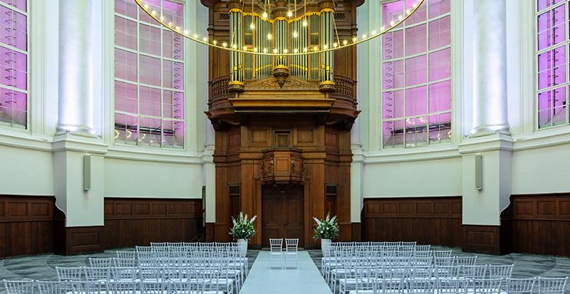 Een sprookjesachtige locatie voor een droomhuwelijk in Amsterdam.